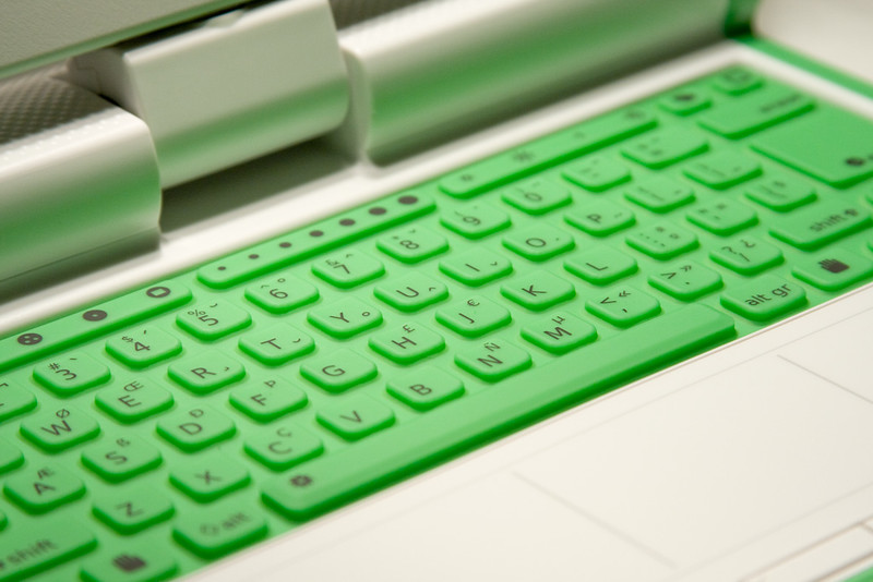 An ordinary keyboard or a membrane keyboard. Photo by David Seah on Flickr.