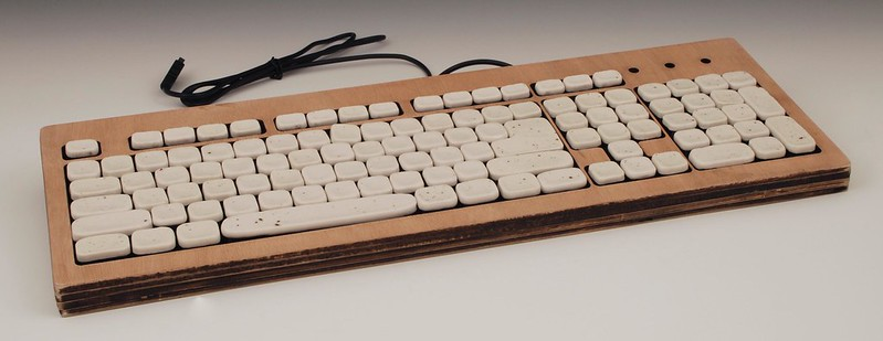 A ceramic keyboard. Photo by Anthony Kling on Flickr.