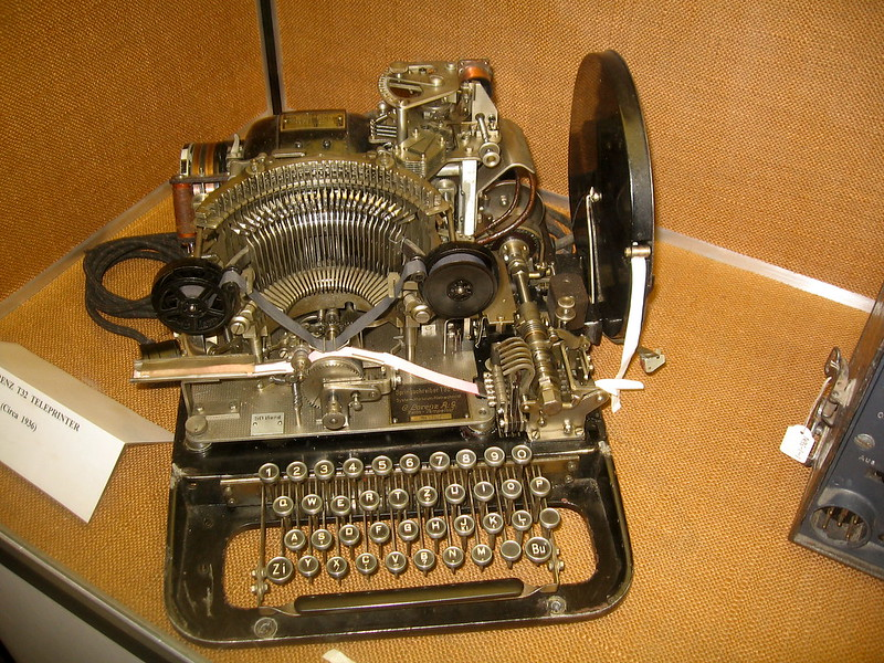 A Teleprinter. Photo by Timitrius on Flickr.